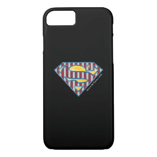 Superman S-Shield | Striped Logo iPhone 8/7 Case