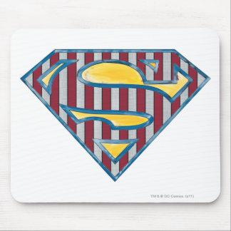 Superman S-Shield | Striped Logo Mouse Pad