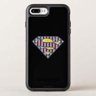 Superman S-Shield | Striped Logo OtterBox Symmetry iPhone 7 Plus Case