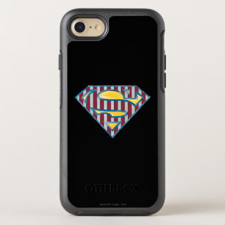 Superman S-Shield | Striped Logo OtterBox Symmetry iPhone 8/7 Case