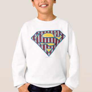 Superman S-Shield | Striped Logo Sweatshirt