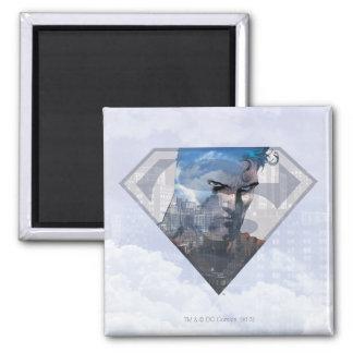 Superman S-Shield | Superman in S-Shield Logo Square Magnet