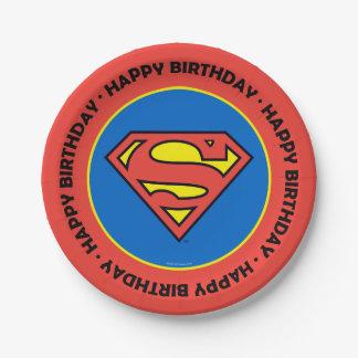 Superman S-Shield   Superman Logo 7 Inch Paper Plate