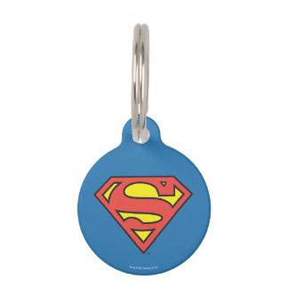 Superman S-Shield   Superman Logo Pet Name Tags