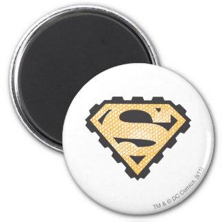 Superman S-Shield | Tan Logo 6 Cm Round Magnet