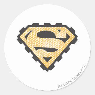 Superman S-Shield | Tan Logo Classic Round Sticker