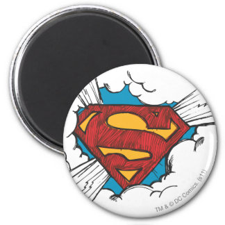 Superman S-Shield | Within Clouds Logo 6 Cm Round Magnet