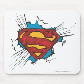Superman S-Shield | Within Clouds Logo Mouse Mat