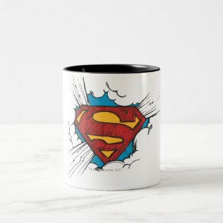 Superman S-Shield | Within Clouds Logo Two-Tone Coffee Mug