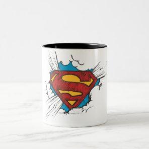Superman S-Shield | Within Clouds Logo Two-Tone Coffee Mug