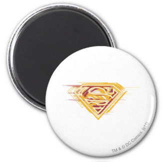 Superman S-Shield | Yellow and Red Logo 6 Cm Round Magnet