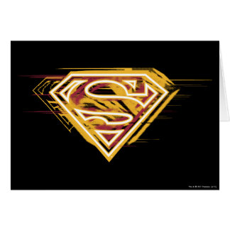 Superman S-Shield | Yellow and Red Logo Card