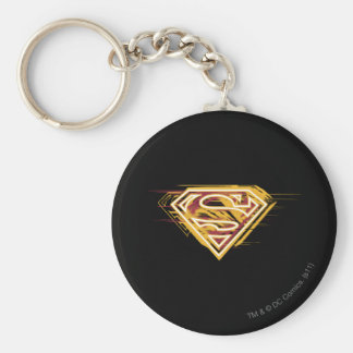 Superman S-Shield   Yellow and Red Logo Key Ring