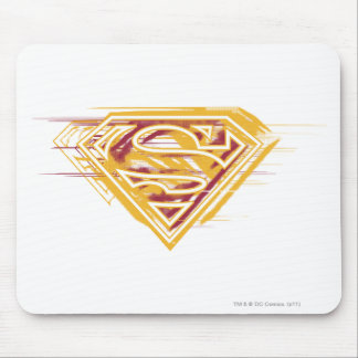 Superman S-Shield | Yellow and Red Logo Mouse Mat