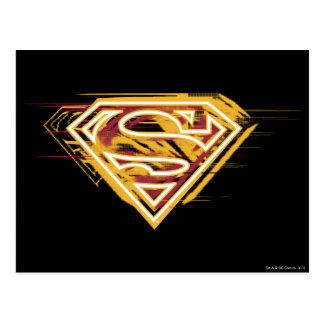 Superman S-Shield | Yellow and Red Logo Postcard