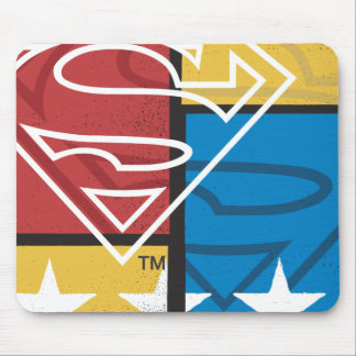 Superman Shield with Stars Mouse Pad