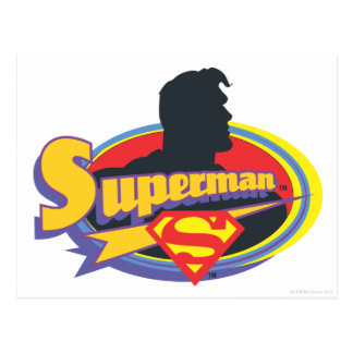 Superman Silhouette Postcard