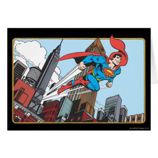 Superman & Skyscrapers Greeting Card