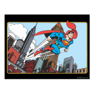 Superman & Skyscrapers Postcard