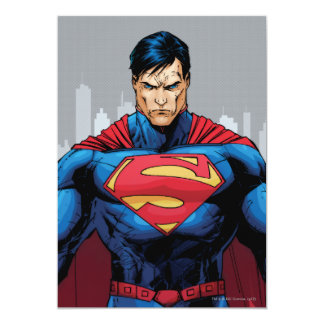 Superman Standing 13 Cm X 18 Cm Invitation Card