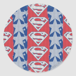 Superman Stars and Logo Classic Round Sticker
