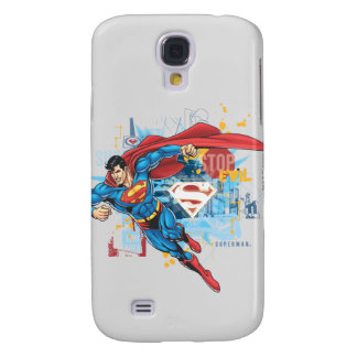 Superman - Stop Evil Galaxy S4 Case