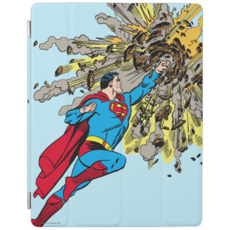 Superman Stops a meteor iPad Cover