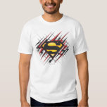 Superman Stylised | Black and Red Strikes Logo Shirt