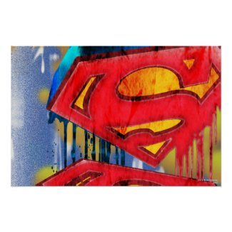 Superman Stylised | Urban Spraypaint Logo Poster