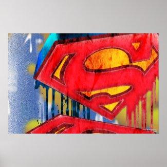 Superman Stylised | Urban Spraypaint Logo Poster