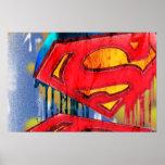 Superman Stylised   Urban Spraypaint Logo Poster