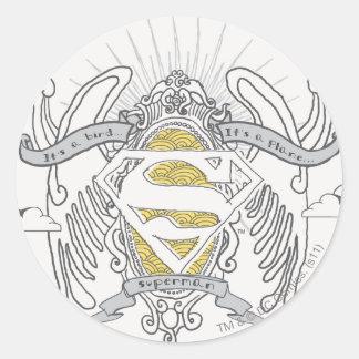 Superman Stylized | A Bird, A Plane Logo Classic Round Sticker