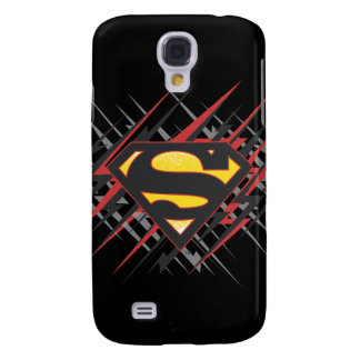 Superman Stylized | Black and Red Strikes Logo Galaxy S4 Case