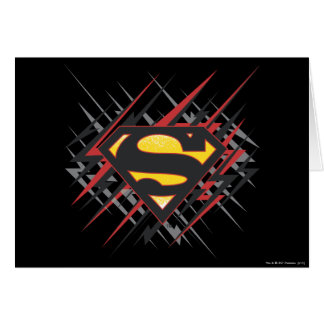 Superman Stylized | Black and Red Strikes Logo Greeting Card