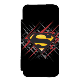 Superman Stylized | Black and Red Strikes Logo Incipio Watson™ iPhone 5 Wallet Case