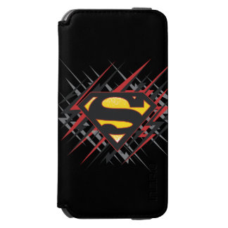 Superman Stylized | Black and Red Strikes Logo Incipio Watson™ iPhone 6 Wallet Case