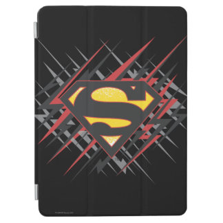 Superman Stylized | Black and Red Strikes Logo iPad Air Cover