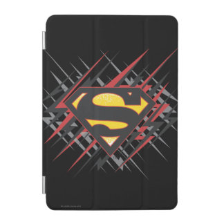 Superman Stylized | Black and Red Strikes Logo iPad Mini Cover