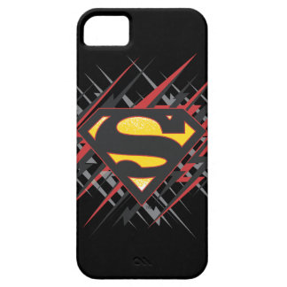 Superman Stylized | Black and Red Strikes Logo iPhone 5 Cases
