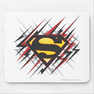 Superman Stylized | Black and Red Strikes Logo Mouse Mat