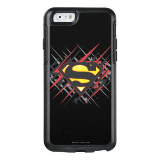 Superman Stylized | Black and Red Strikes Logo OtterBox iPhone 6/6s Case