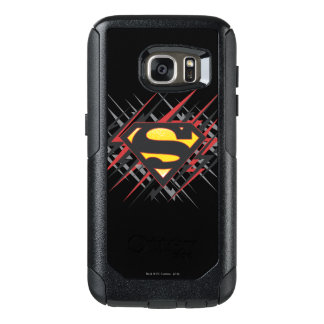 Superman Stylized | Black and Red Strikes Logo OtterBox Samsung Galaxy S7 Case