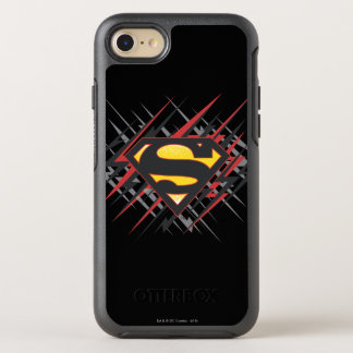 Superman Stylized | Black and Red Strikes Logo OtterBox Symmetry iPhone 8/7 Case