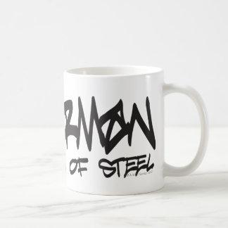 Superman Stylized | Black Letters Graffiti Logo Coffee Mug