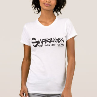 Superman Stylized | Black Letters Graffiti Logo T-Shirt