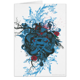 Superman Stylized | Blue Heart Red Logo Card