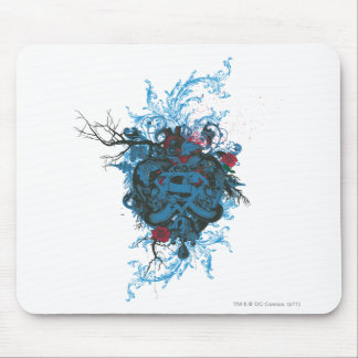 Superman Stylized | Blue Heart Red Logo Mouse Mat