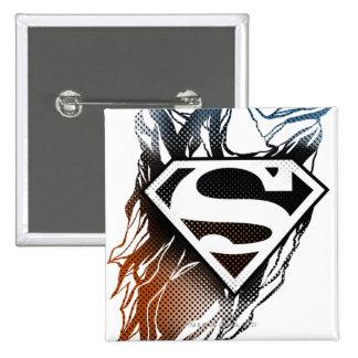 Superman Stylized | Blue OrangeLogo 15 Cm Square Badge
