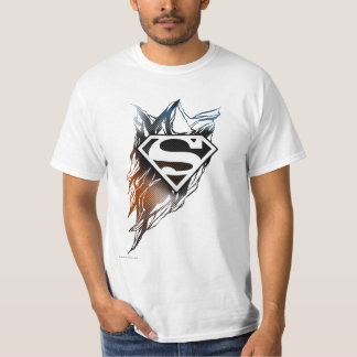 Superman Stylized | Blue Orange Logo T-Shirt