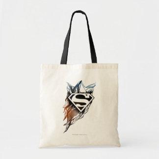 Superman Stylized | Blue OrangeLogo Tote Bag